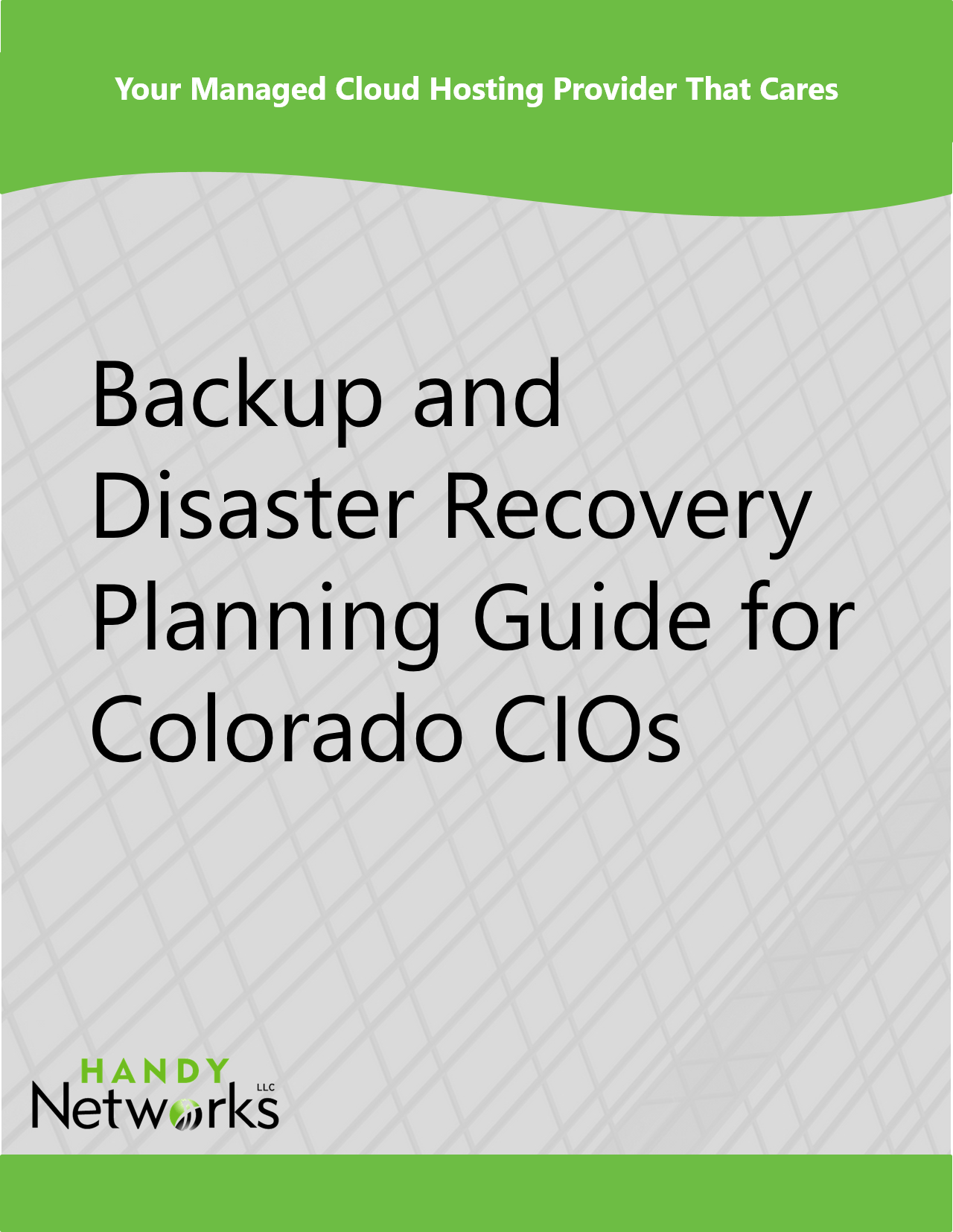 Backup And Disaster Recovery Planning Guide For Colorado CIOs